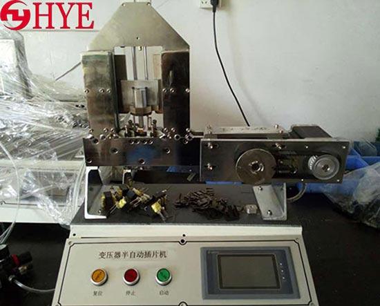 新品PLC触摸屏低频变压器自动插片机EE型插片机